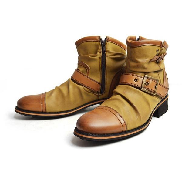エンジニアブーツ メンズ ブーツ ショートブーツ ワークブーツ ドレープブーツ ライダース バイカーズブーツ ヴィンテージ 靴 メンズシューズ 2020 冬|apricot-town|21