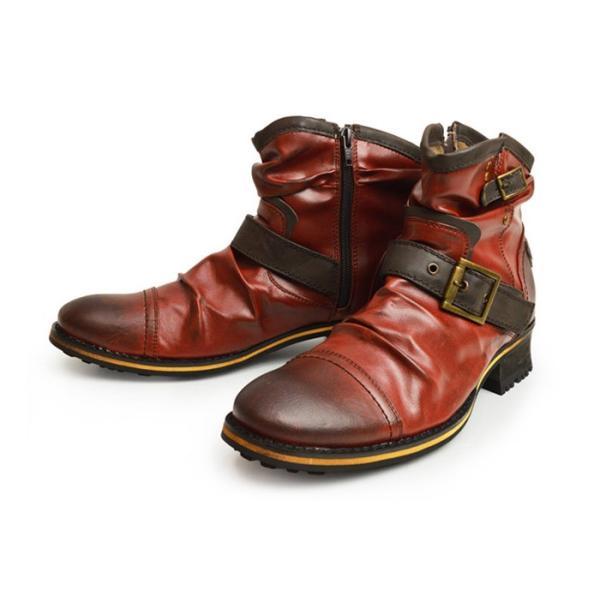 エンジニアブーツ メンズ ブーツ ショートブーツ ワークブーツ ドレープブーツ ライダース バイカーズブーツ ヴィンテージ 靴 メンズシューズ 2020 冬|apricot-town|23