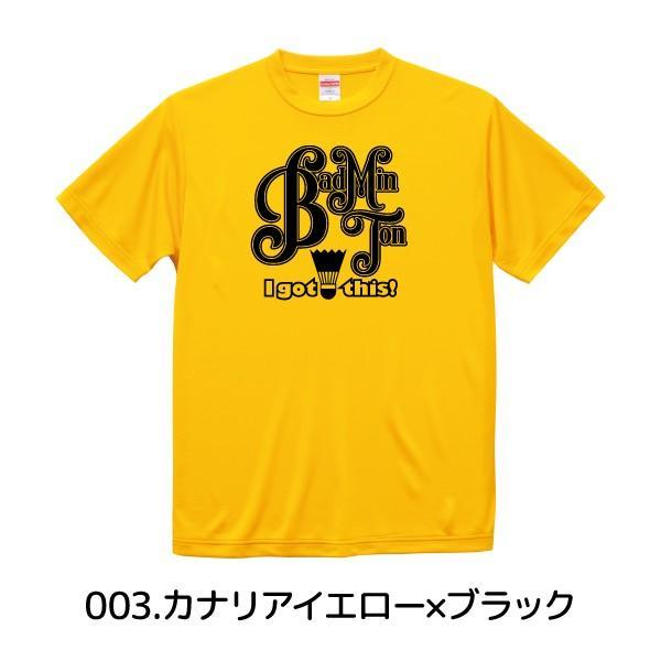 バドミントン Tシャツ ドライシルキー ウェア 練習着 チーム クラブ 全12色 B801 送料無料 5088|apricot-uns|09