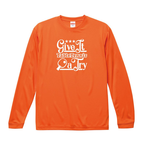 卓球 ドライシルキータッチ ロングスリーブ Tシャツ ウェア 長袖 練習着 チーム クラブ 全8色 T802 送料無料 5089 apricot-uns 07