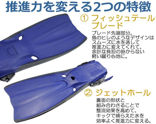 【フィン】推進力を変える2つの特徴