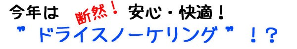 【シュノーケリングセット】今年は安心&快適!ドライシュノーケリング