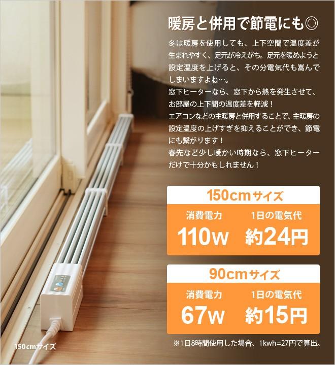 主暖房との併用で節電&暖房効率アップ!