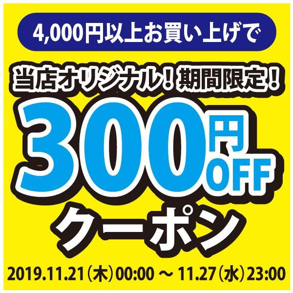 アクアビーチオリジナルクーポン!4,000円以上購入で300円OFF!2019年11月21日(木)00:00 〜 11月27日(水)23:00