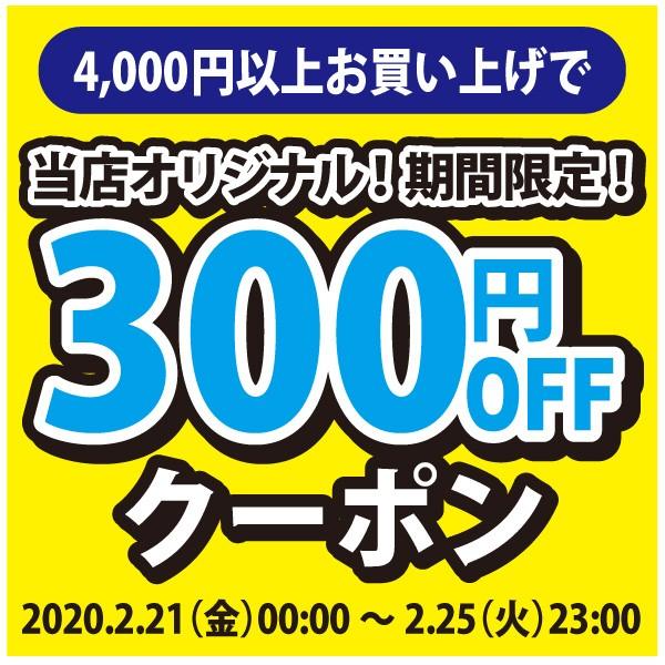 2020年2月21日(金)00:00〜2月25日(火)23:00【アクアビーチyahoo店】4,000円以上購入で300円OFF!