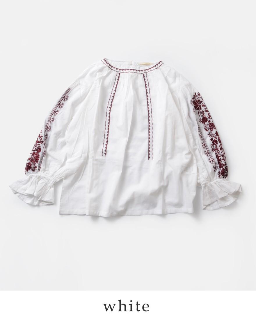neQuittezpas(ヌキテパ)コットンボイル刺繍ブラウス010181021