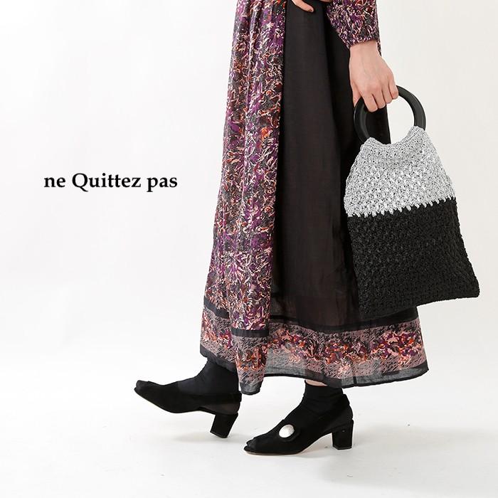 ne Quittez pas(ヌキテパ)メタリックヤーンリングハンドルバッグ 012092883o
