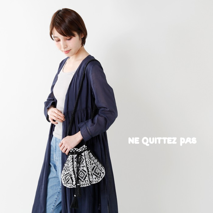 neQuittezpas(ヌキテパ)ビーズ刺繍ショルダーポーチバッグ012181107o