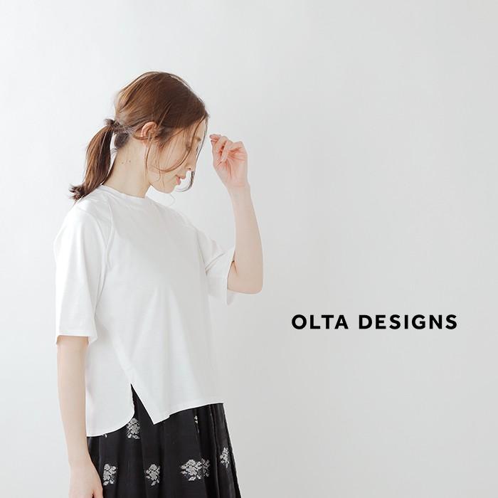 OLTA DESIGNS(オルタデザインズ)コットンラグランハーフスリーブTシャツ 01915243o