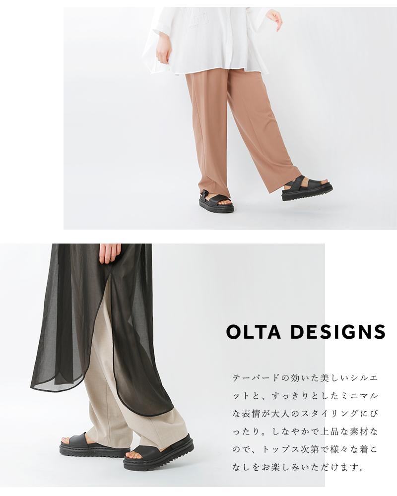 OLTA DESIGNS(オルタデザインズ)タックワイドテーパードトラウザーパンツ 02118485o