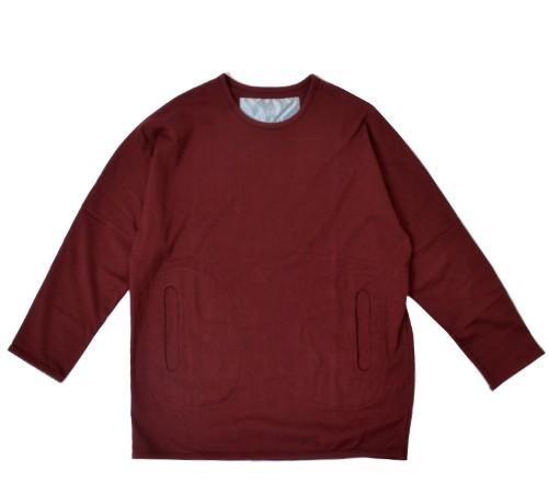 DulcamaraストレッチドルマンスリーブロングTシャツ