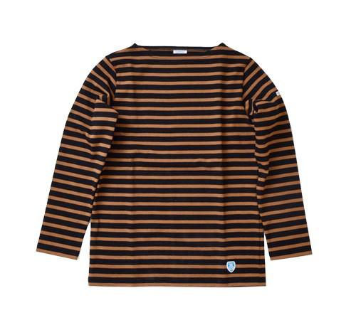 ORCIVALコットン100%長袖バスクビッグシャツ b211clw