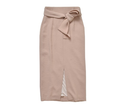 yanganyウエストリボンスリットタイトスカート