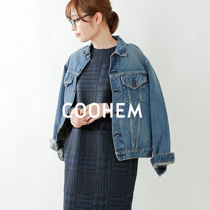 COOHEM(コーへン)テックツイード7分丈ワンピース 10-194-008
