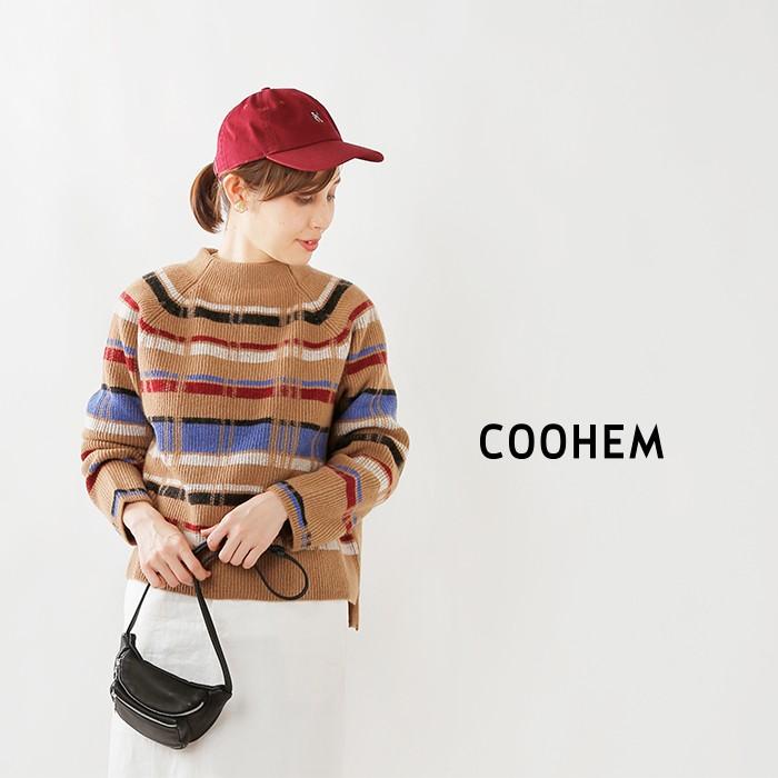 COOHEM(コーへン)レトロチェックニットプルオーバー 10-194-012