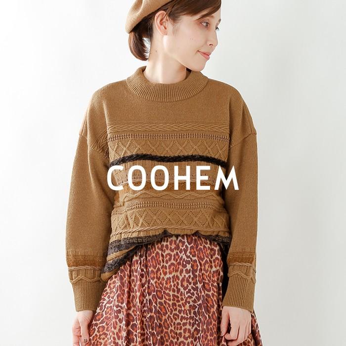 COOHEM(コーへン)ソリッドツイーディーニットプルオーバー 10-194-014