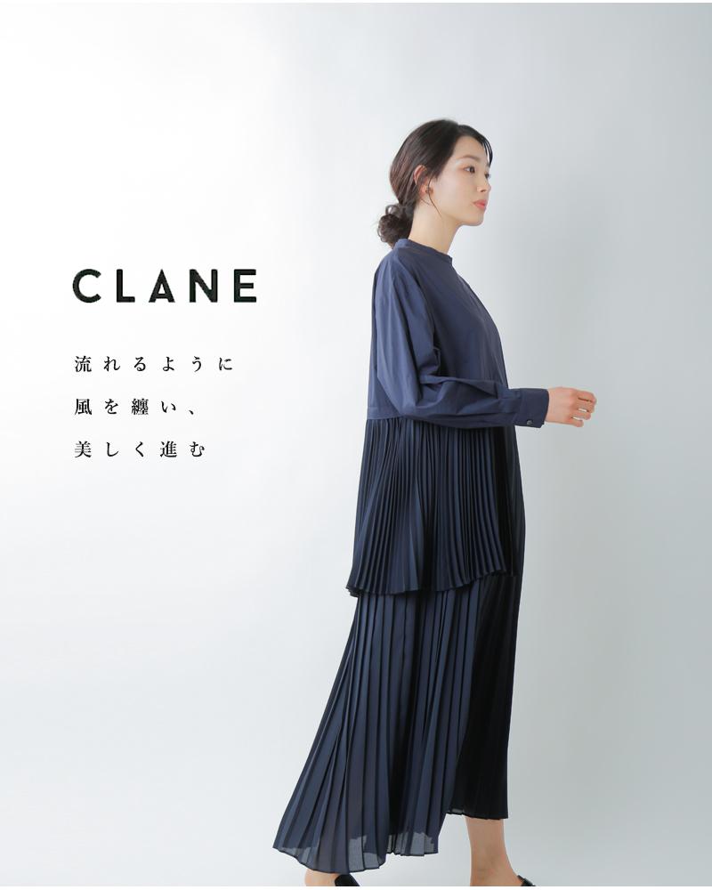 CLANE(クラネ)ミックスプレートレイヤーワンピース 10112-5012