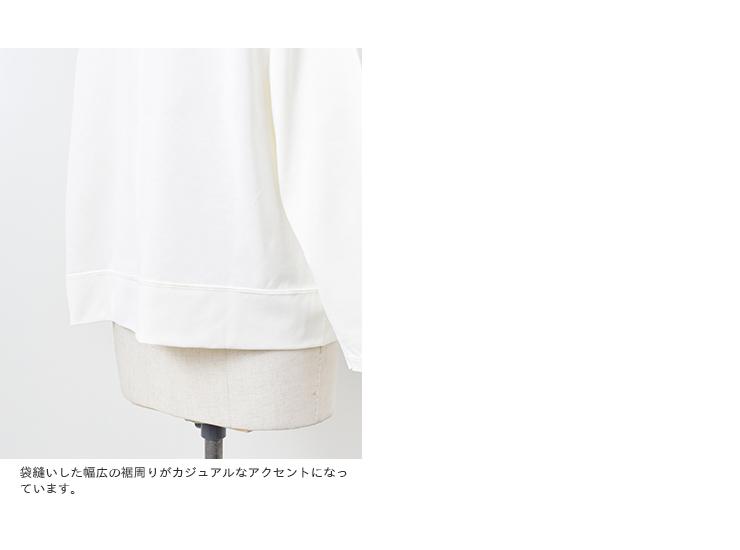 EAST HIGH ROOM(イーストハイルーム)aranciato別注 引き揃え天竺コットンモックネックTシャツ 114140