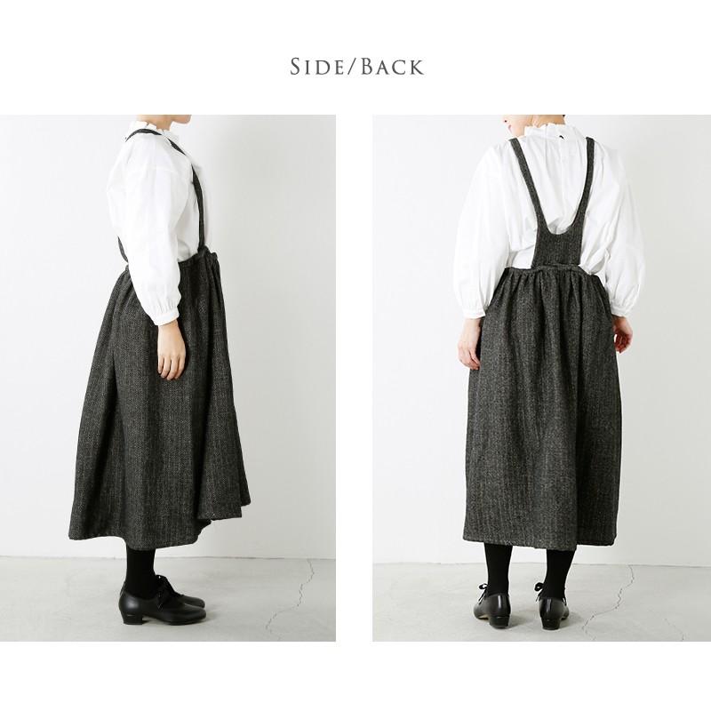 Si-Si-Si(スースースー)ウールリネンヘリンボーンジャンパースカート 17-aw008l