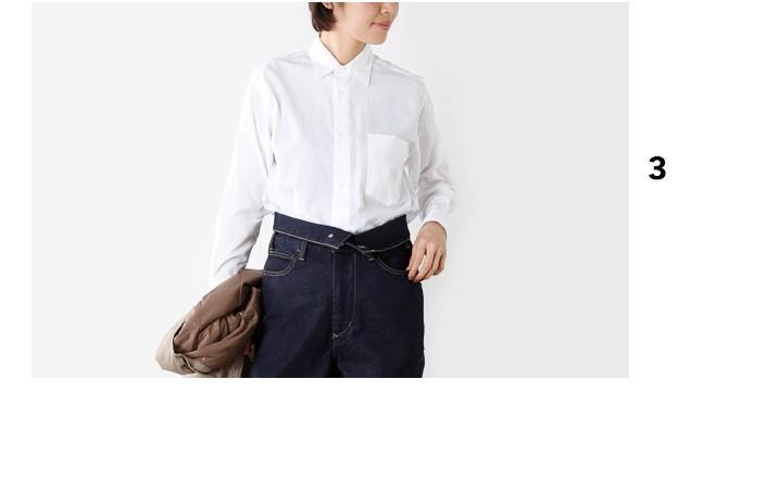 "graphpaperレギュラーカラーブロードクロスシャツ""Regular Collar Shirt for Womens"" gl173-5001b"