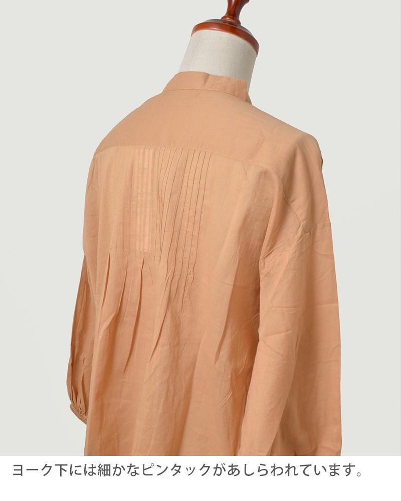 ne Quittez pas(ヌキテパ)ふんわりギャザースキッパーピンタックコットンシャツ 171n-w027