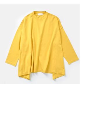 """graphpaperイレギュラーヘムレーヨンロングTシャツ""""Viscose Irregular Hem Pullover"""" gl181-40109b"""