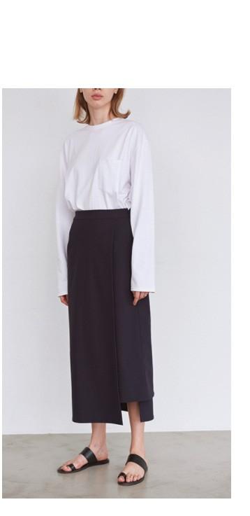 "graphpaperメリルナイロンストレッチスカート""Meryl Nylon Stretch Skirt"""