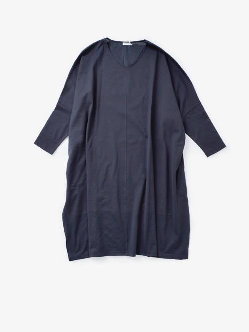 LUEUF40/2コーマコットン布帛切替えセンターシームワイドドレス