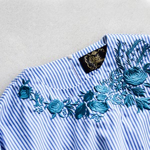 cardofabrica(カルドファブリカ) コットン刺繍ロングカフスブラウス34-01-bl-001-18-1