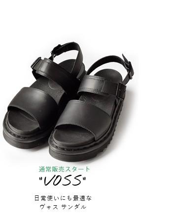 """Dr.Martensレザージギーソールサンダル""""VOSS"""" voss"""