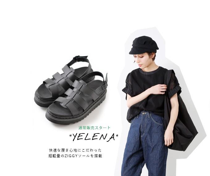 """Dr.Martensハイドロレザージギーソールサンダル""""YELENA"""" yelena"""