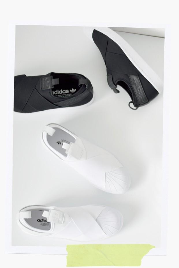 "adidas Originals(アディダス オリジナルス) ストレッチストラップスリッポン""SUPERSTAR SlipOn"""