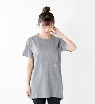 and wander(アンドワンダー)  シームレスロングTシャツ aw-jt627