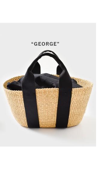 "MUUN(ムーニュ)<br>2wayエレファントグラスカゴバッグ""GEORGE"" george"