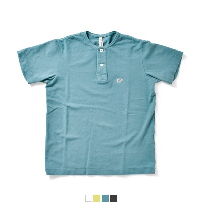 SCYE BASICS(サイベーシックス) 40/1鹿の子コットンヘンリーネックシャツ 5218-21593