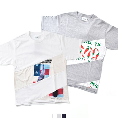 "Yoused(ユーズド) USAプリントリメイク チルトTシャツ""Tilt printed Tee"" tilt-printed-tee"