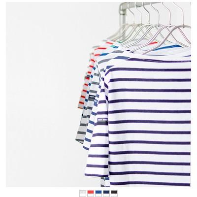 SAINT JAMES(セントジェームス) コットンボートネックTシャツ piriac