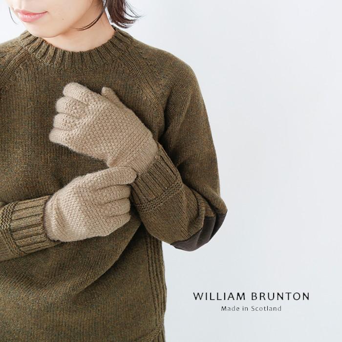 WILLIAM BRUNTON(ウィリアムブラントン)カシミヤタックスティッチグローブ 181
