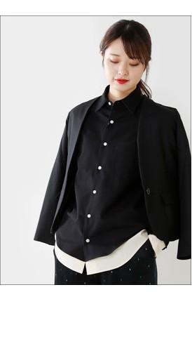 Scye(サイ)<br>ウールコットンフランネルレイヤードシャツ 1218-33083