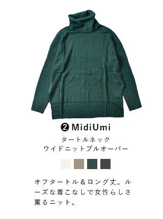 MidiUmi(ミディウミ) タートルネックワイドニットプルオーバー 3-724037-a