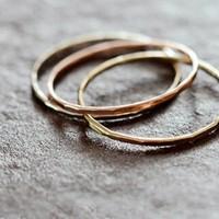 Melissa Joy Manning(メリッサ・ジョイ・マニング) 14kt gold stacking rings 120223-melissa