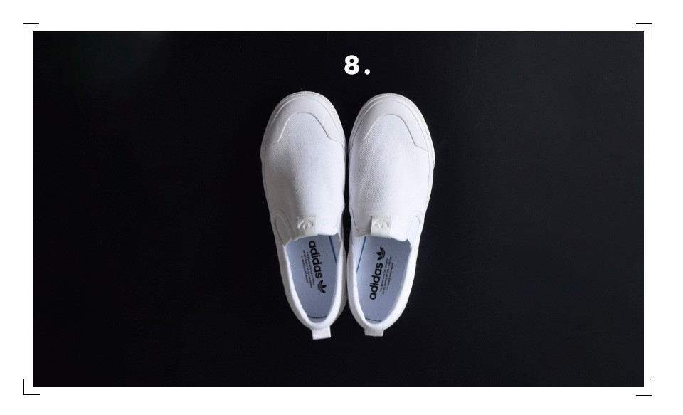 "adidas Originals(アディダス オリジナルス)<br>キャンバスアッパースリッポンシューズ""NIZZA SLIPON W"" nizza-slipon-w"