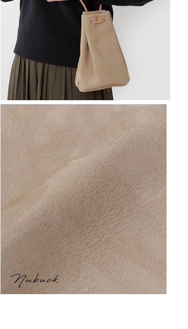 mormyrus(モルミルス)<br>レザー巾着ショルダーバッグ m-077-yn