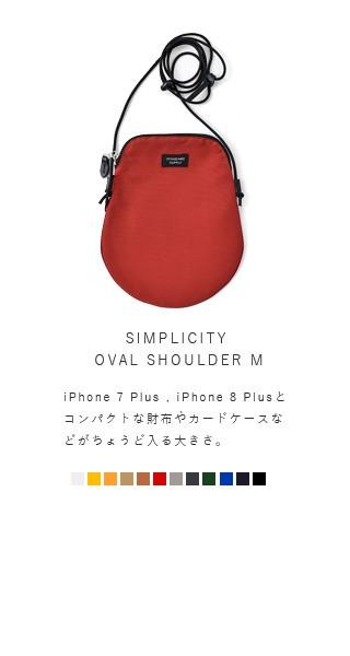 """STANDARD SUPPLY(スタンダードサプライ)<br>コットンナイロンオーバルショルダーバッグM""""SIMPLICITY"""" oval-shoulder-m"""