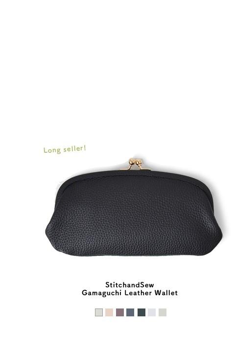 StitchandSew(スティッチアンドソー)<br>がま口レザーウォレット clw200-101