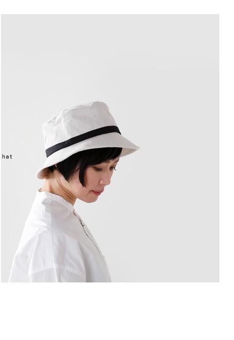 Chapeaugraphy(シャポーグラフィー)<br>aranciato別注 綿麻シャンブレーバケットハット 021o-mk