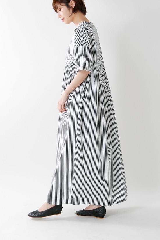 SI-HIRAI(スーヒライ) コットンツイストネックロングドレス chss19-3752a