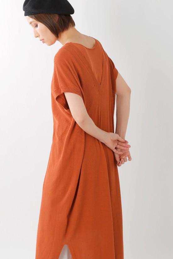 unfil(アンフィル) ドライタッチコットンピケニットドレス onsp-uw135