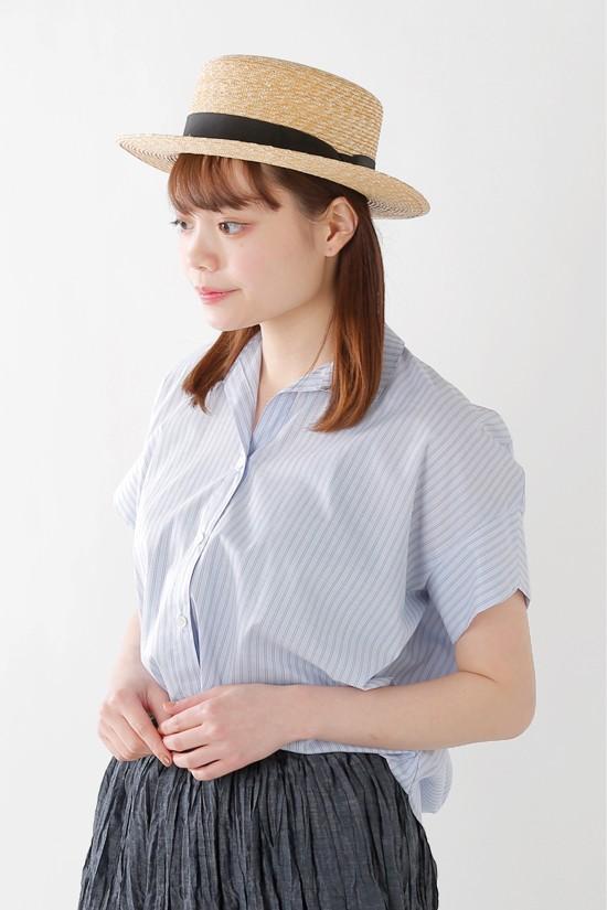 sakayori.(サカヨリ) コットンテンセルポプリンスキッパーカラーシャツ s31-21509