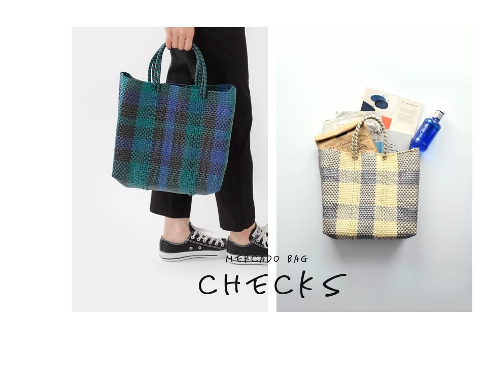 "Letra(レトラ)<br>メルカドバッグS""CHECK"" check-s"